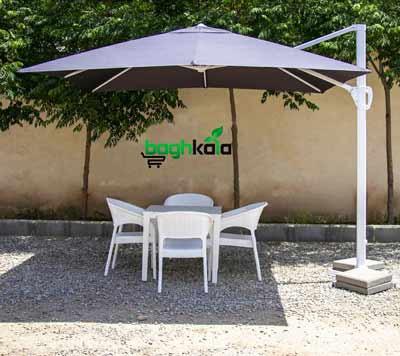 سایبان چتری پایه کنار مربع 3*3 متر