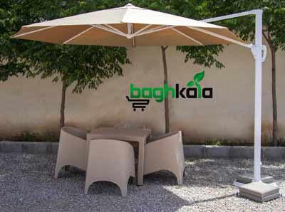 سایبان چتری پایه کنار هشت ضلعی قطر 3.5 متر